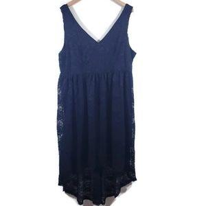Torrid plus size black lace sleeveless dress